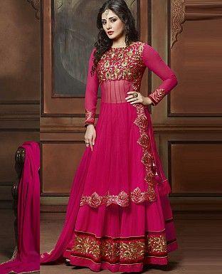 156 best Anarkali Suits images on Pinterest   Punjabi suits ...