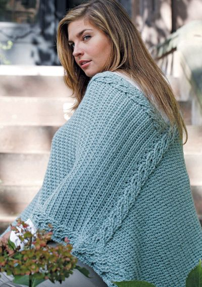 Free Crochet Pattern CGponcho Curvy Girl Intertwined ...