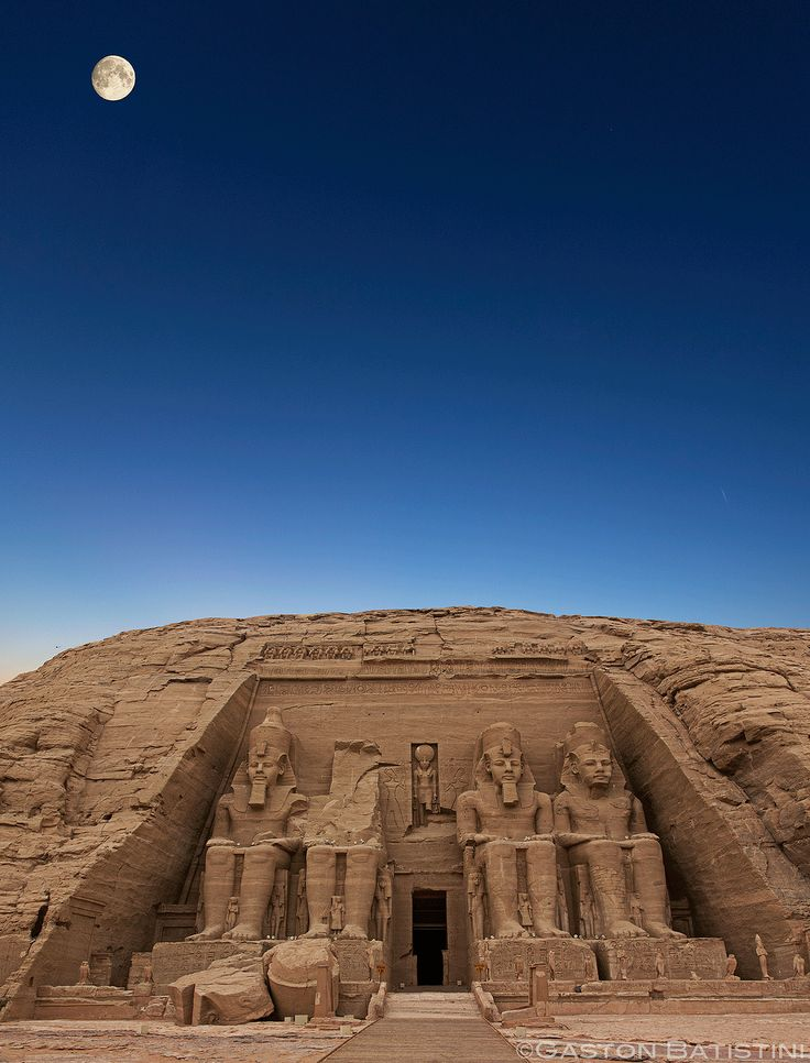 The Temple of Abu Simbel, in Egypt consists of two huge rock temples in a village named Nubia. The temples were carved out of the mountains and their external rock figures have become very popular.