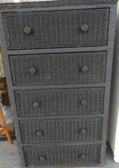 Painted Wicker Dresser Gray   Google Search