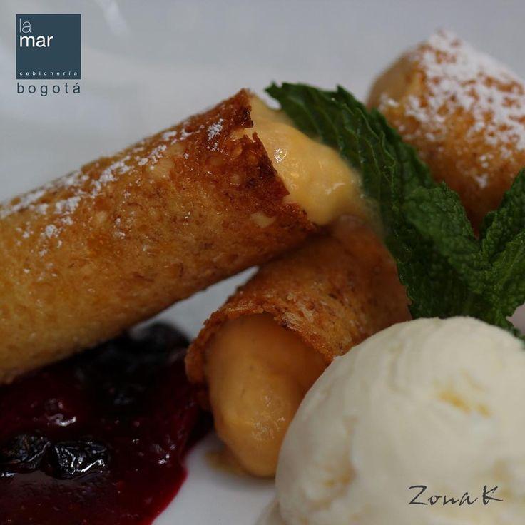 #zonakbogota #zonak #restaurantelamar #cebicherialamar #Usaquen No deje de probar nuestros postres en La Ma