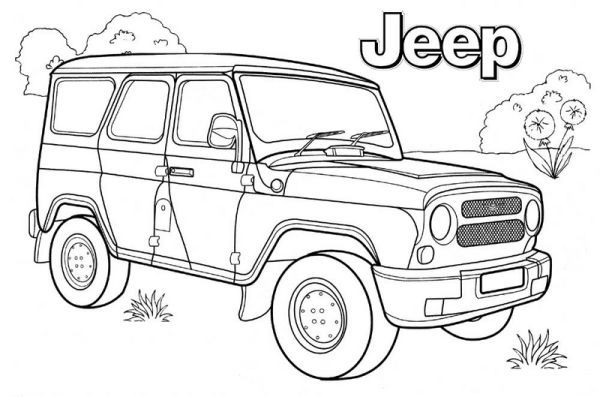 Jeep Coloring Pages Printable Cars Coloring Pages Coloring