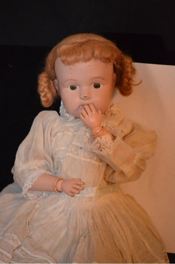 Antique Doll Schoenhut Wood Carved Jointed Girl Character