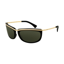 Ray Ban RB4109 720 Sunglasses. Ray-Ban OLYMPIAN I RB4109 sunglasses are an innovative frame with a distinct metal outline.  A combination of propionate plastic and monel creates a unique, unmistakable look for these sunglasses.  The distinct broad metal top bar on this immediately recognizable frame accentuates the contours of the soft, modified rectangular lenses.  The Ray-Ban RB4109 sunglasses are completed with a subtle Ray-Ban® signature logo engraving on the temples.