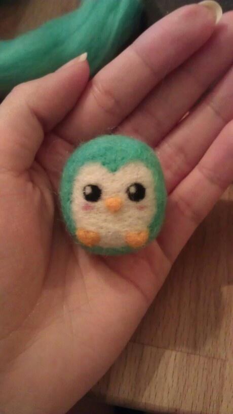 Penguin needle felt Pinguin nadel filzen