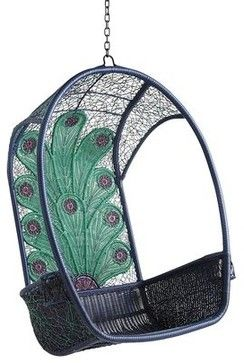 Swingasan Chair, Peacock - contemporary - outdoor chairs - Pier 1 Imports