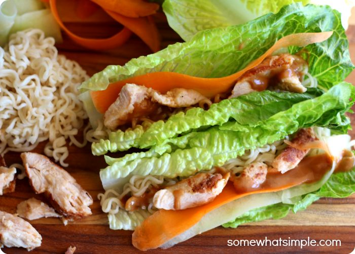 Thai Lettuce Wraps using only 6 ingredients. The perfect summer healthy meal. Yum!