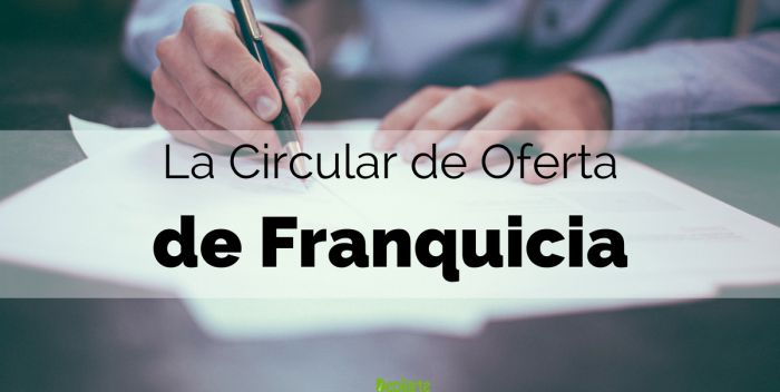 Elementos de una Circular de Oferta de Franquicia