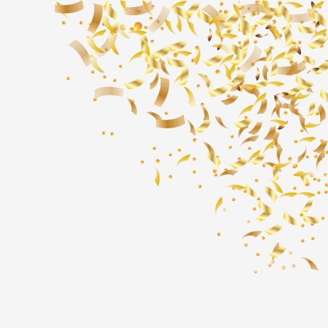 Falling Shiny Golden Confetti Isolated On Transparent Background Bright Festive Tinsel Of Gold Color Confetti Background Isolated Png And Vector With Transpa Confetti Background Color Vector Transparent Background