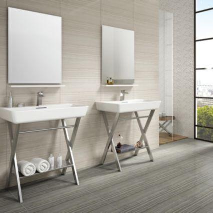 Bolina Bone Glazed Porcelain Wall & Floor Tile, Pack of 6, (L)600mm (W)300mm: Image 3