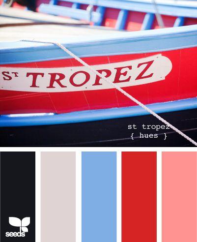St Tropez Hues: Colors Combos, Color Palettes, Design Seeds, Bedrooms Colors, Colors Palettes, Colors Schemes, Blue Colors, French Riviera, Colors Inspiration