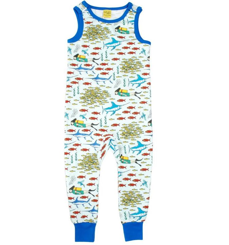 Duns Sweden Organic Dungarees - Divers World Retro Baby Clothes - Baby Boy clothes - Danish Baby Clothes - Smafolk - Toddler clothing - Baby Clothing - Baby clothes Online