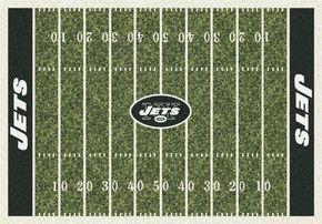 New York Jets NY Football Field Rug