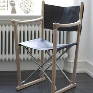 Classic Chair in oak and leather by Skagerak - The Worm that Turned  #directorschair  #danishdesign #foldingchair