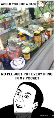 : Pocket, Laugh, Funny Pictures, Whole Food, Funny Stuff, Humor, Grocery Stores, Meme, Bags