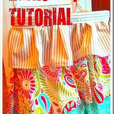 Find out how to make a FLIRTY RUFFLED APRON. Then tie it on, bake a cake and look super cute while you're at it! They are simple enough that you could even do a whole batch of them and use them as a party favor.