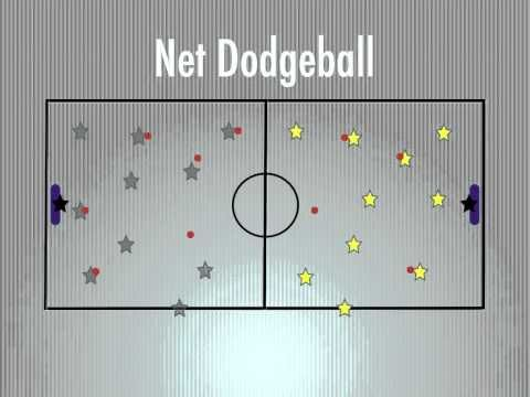 Physical Education Games - Net Dodgeball - YouTube