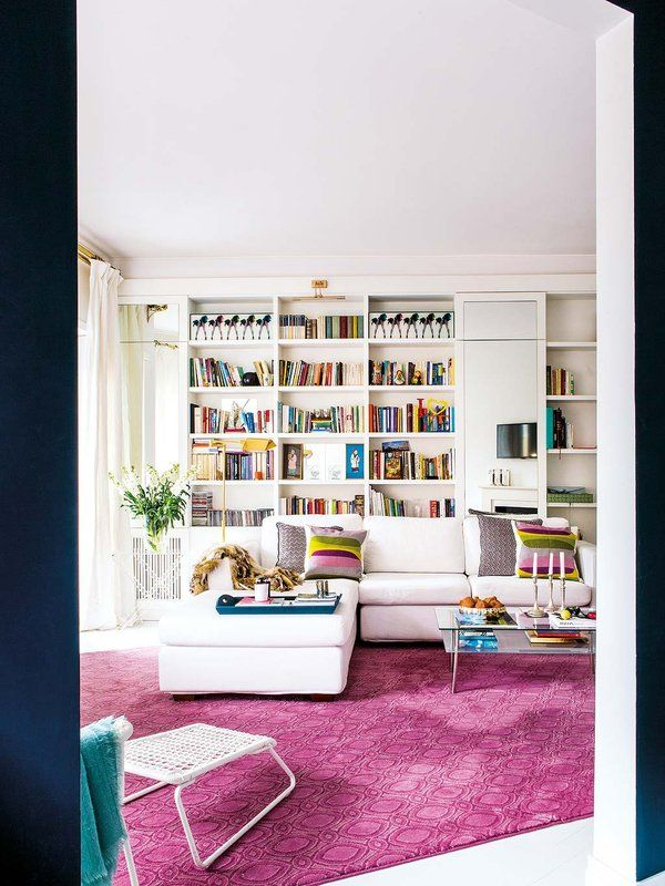 Сочные цвета в интерьере римской квартиры | RoomIdea