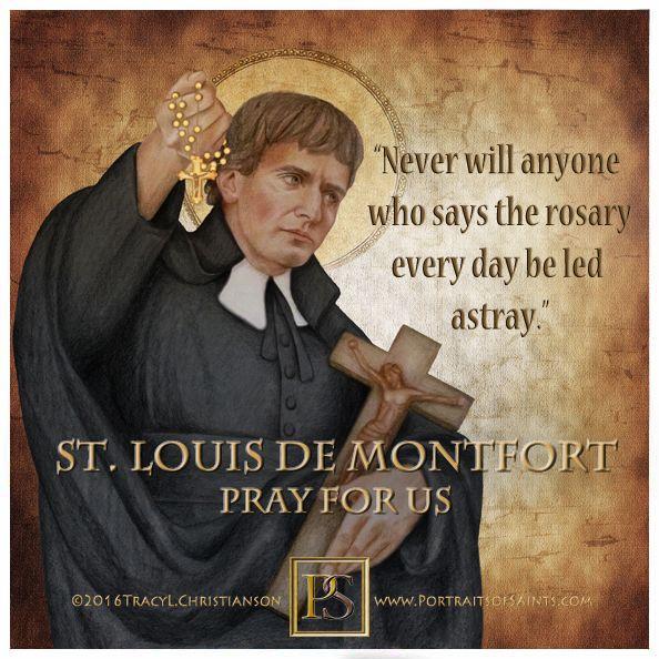 St. Louis de Montfort , author of True Devotion to Mary #rosary #StLouisdeMotfort