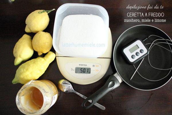 Depilazione fai da te. Sokkar Ceretta zucchero, miele e limone