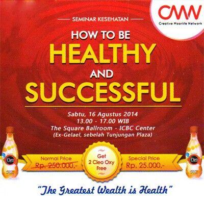 CMN Cleo Oxy - Seminar Kesehatan 16 Agustus 2014 Surabaya http://bisnisc.com