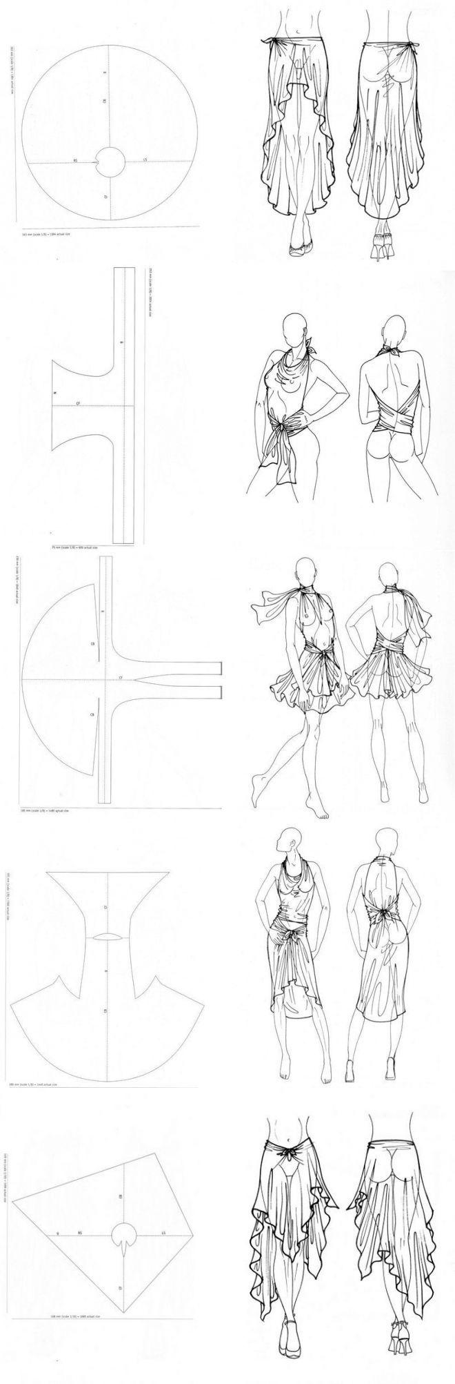 10 летних нарядов, которые не нужно шить! | thePO.ST... lina neva, her post is in Russian, but she has other diagrams like these on postila.ru
