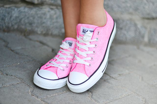 Converse All Star Washed Neon Pink Sneakers