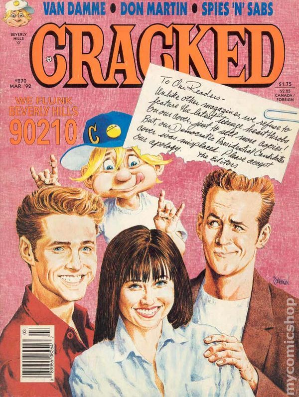 Cracked 270 March 1992 Cover By John Severin Cracked