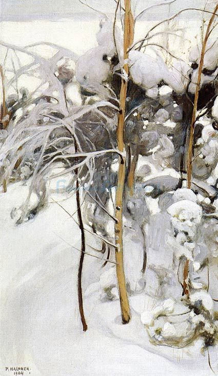 PEKKA HALONEN An Orchard In Winter
