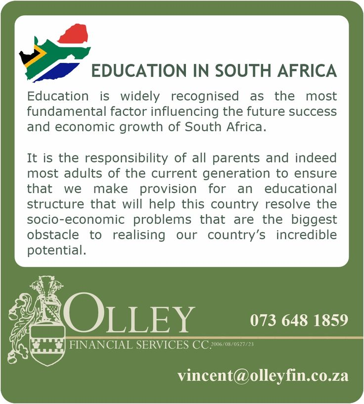 Interesting facts about South African Education - Primary and Secondary level education.