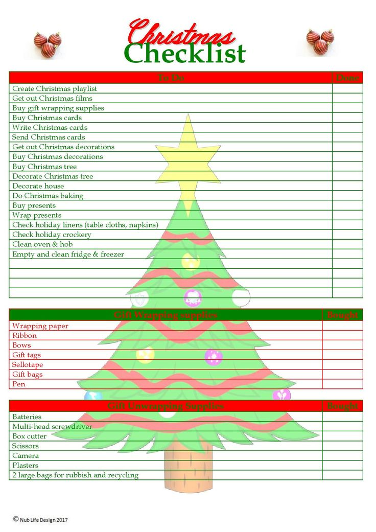 25+ unique Christmas checklist ideas on Pinterest Holiday - christmas to do list template