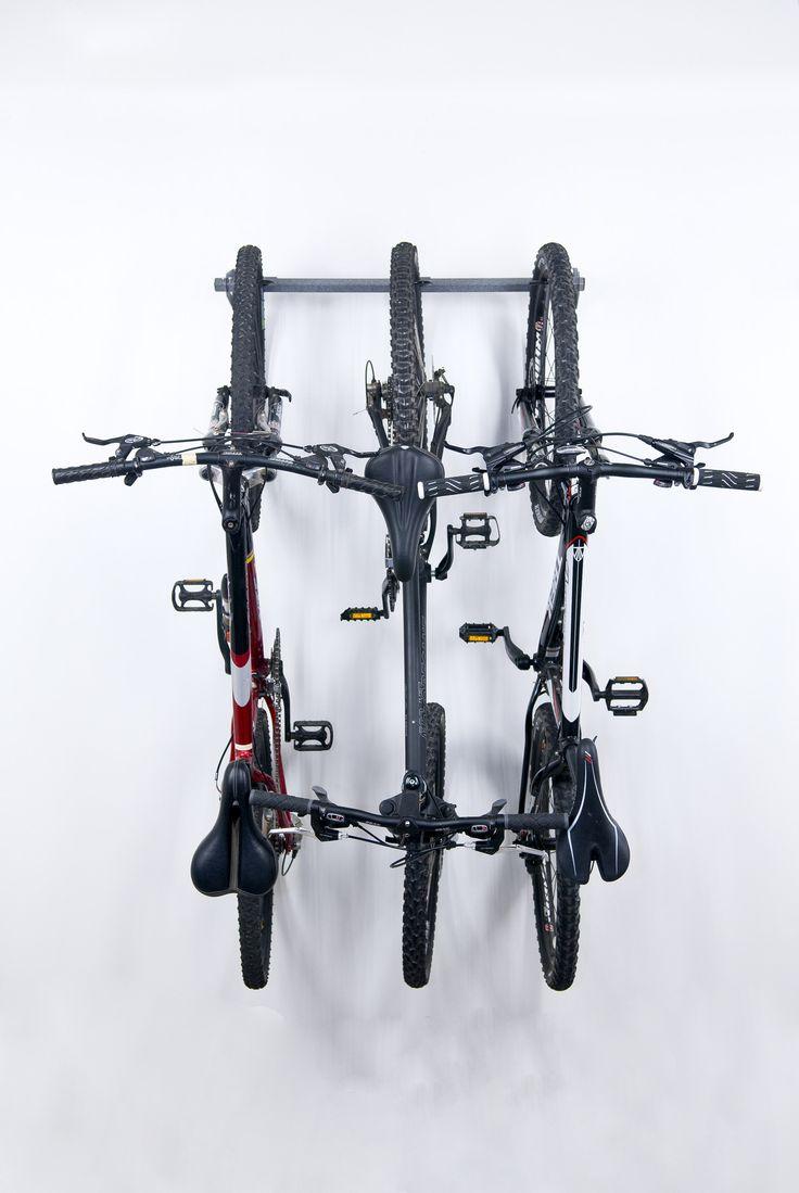 Organize the Garage! The Bike Storage Rack by Monkey Bars is the most versatile bike rack on the market. Monkey Bars has developed a 15 minute installation bike rack that will securely store 3 Mt. Bik