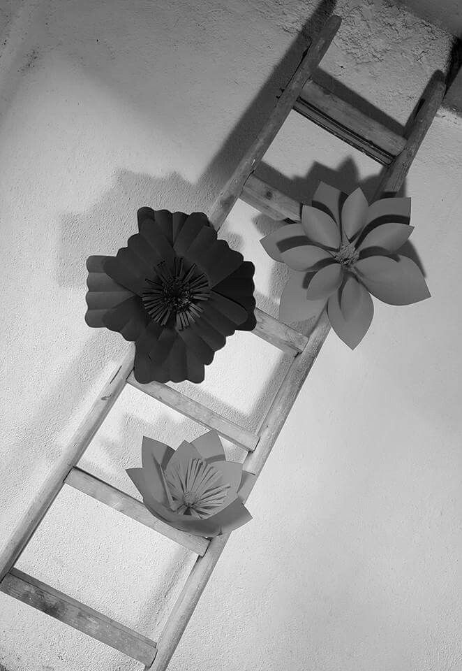 Paper flowers on letter