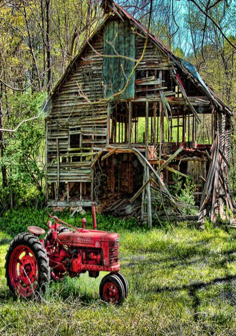 Old Tractor & Nearly Gone Barn