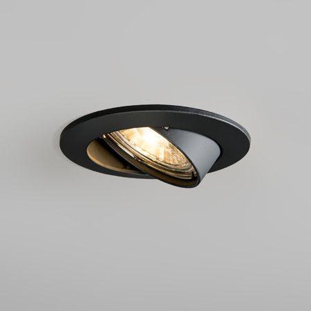 Einbaustrahler Edu rund kippbar schwarz: Leicht installierbarer und universel einsetzbarer Einbaustrahler mit Klemmfedern. #einbaustrahler #innenbeleuchtung #schwarz
