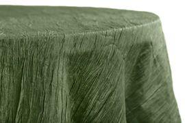 "Accordion Crinkle Taffeta 120"" Round Tablecloth - Willow Green"