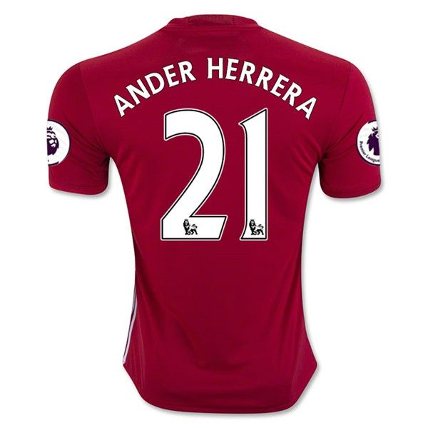 Manchester United 2016/17 Home Men Soccer Jersey ANDER HERRERA #21