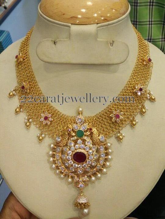 Broad Antique Choker - Jewellery Designs