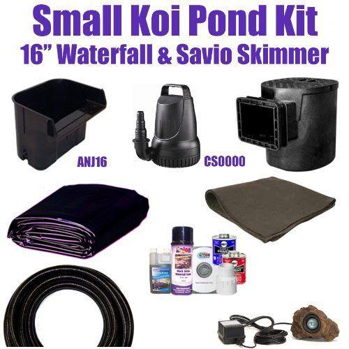 10 x 10 small koi pond kit 3 200 gph savio compact skimmer for Koi pond skimmer