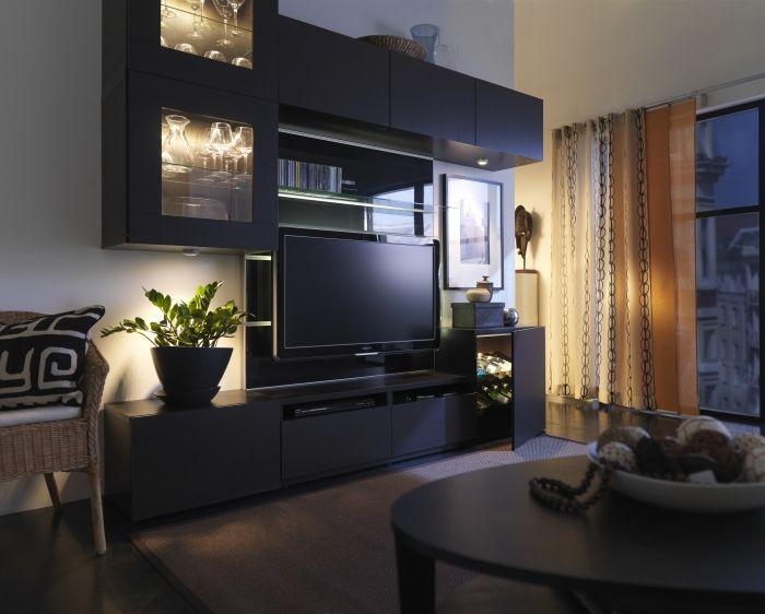 70 best se servir de la peinture pour détourner lu0027attention de sa TV - meuble tv home cinema integre watts