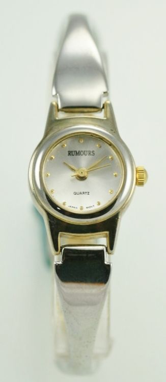 Rumours Watch Womens Gold Silver Stainless Water Resistant Battery White Quartz