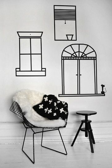 1000 ideas about tape wall art on pinterest washi tape wall tape wall and - Tete de lit masking tape ...