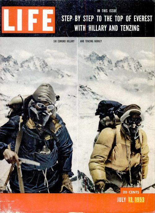 LIFE cover: Sir Edmund Hillary and Tenzing Norgay
