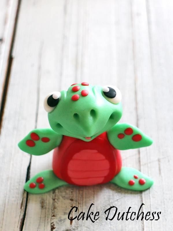 how to make a turtle fondant