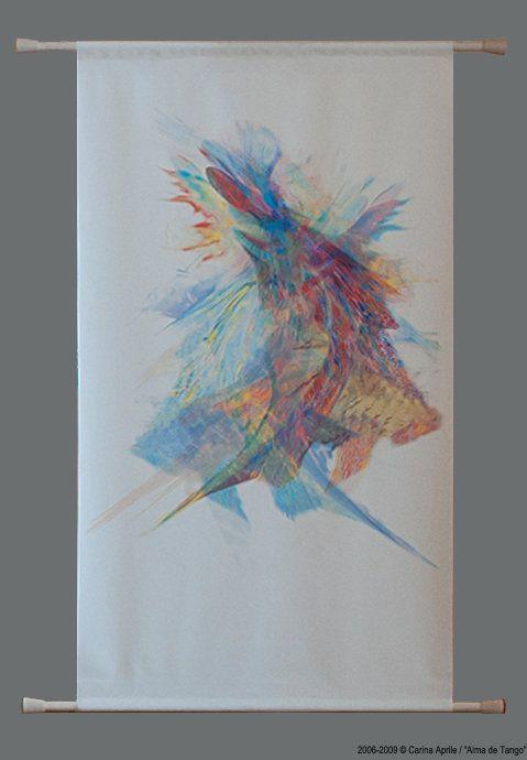 "Carina Aprile, ""ALMA DE TANGO"" Painting on Canvas"