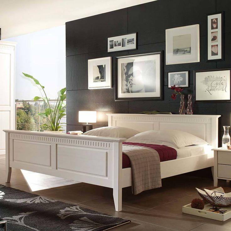 Die besten 25+ weiße Schlafzimmer Set breites Doppelbett Ideen auf - schlafzimmer braun wei