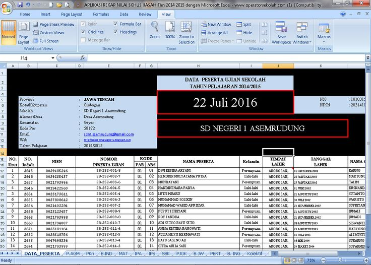 [.xls otomatis] Software Rekap Nilai SKHUS Ijasah Tahun 2016 Berbasis Aplikasi Excel Free Download