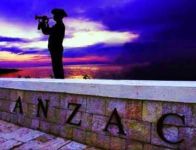 Lone Bugler, Anzac Cove Dawn Service, Gallipoli, Turkey.