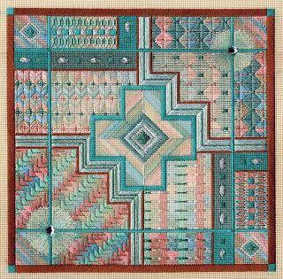 Laura Perin geometric needlepoint