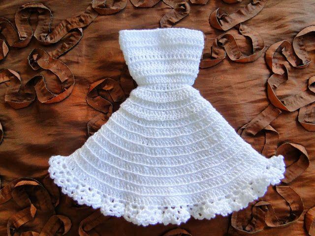 Passo a Passo Em Português   Vestido de Noiva de Crochê Para Barbie   Tradução do Modelo NACRE   Revista 1000 Mailles Robes de Poupée...